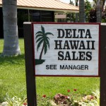 Delta Hawaii Sales Sign