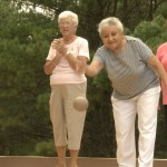 Pine Ridge South Residents Playing Bocce Ball