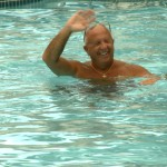 Pine Ridge South Resident Swimming in the Community Pool